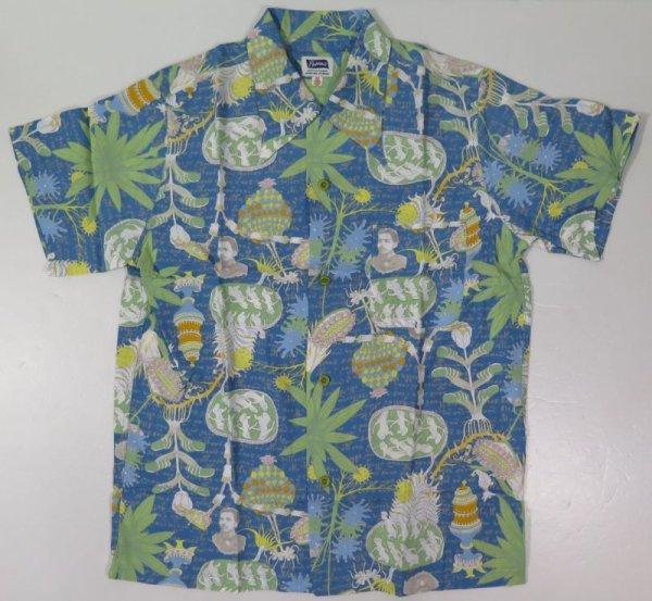 画像1: 【フェローズ】 ヴォイニッチ総柄 レーヨン オープンシャツ Pherrow's 20S-VOYNICH2 日本製 (1)